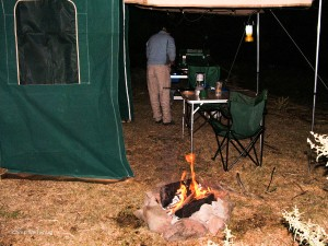 Camping at Amy Anderson Reserve, Bridle Track