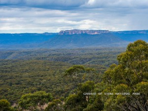 Lookout over the Gardens of Stone National Park near Capertee