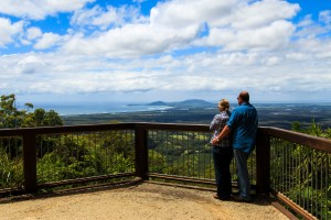 Taking in the awesome views from Yarrahappini Lookout