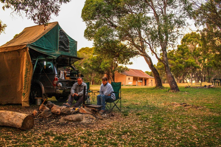 camping at long plain hut