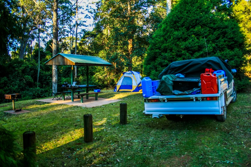 Camping high up on the escarpment at Dingo Tops in Tapin Tops National Park