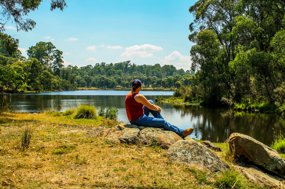Relaxing by Paddys River Dam
