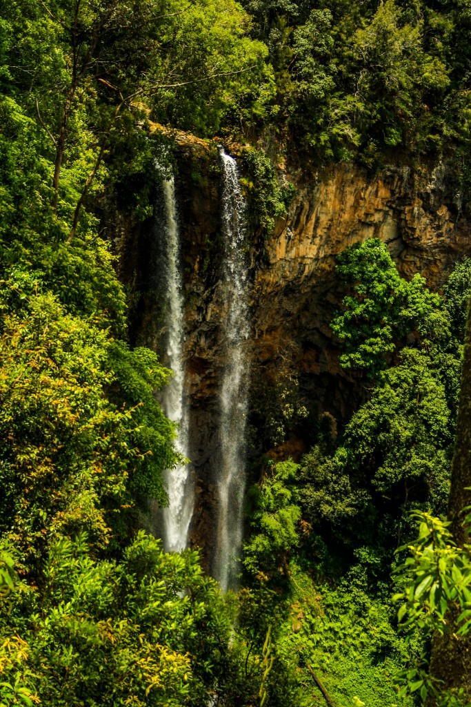 The beautiful Rawson Falls as they plunge 400 metres to a rocky pool below