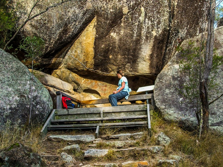 The special rock art site Mount Yarrowyck Nature Reserve