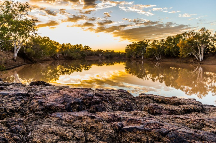 The beautiful Barcoo River at sunrise