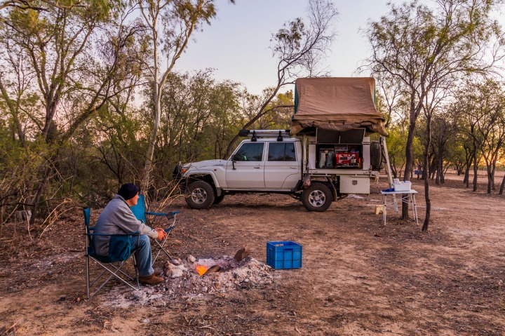 Camp setup at Oma Waterhole