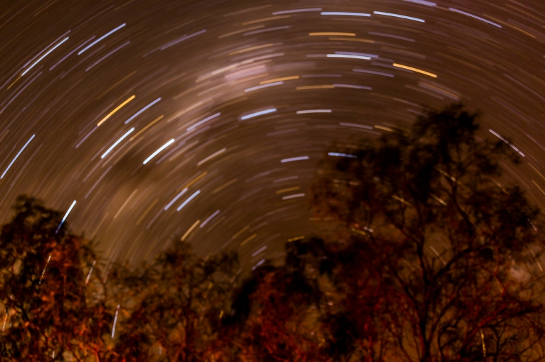Startrails during our night at Oma Waterhole
