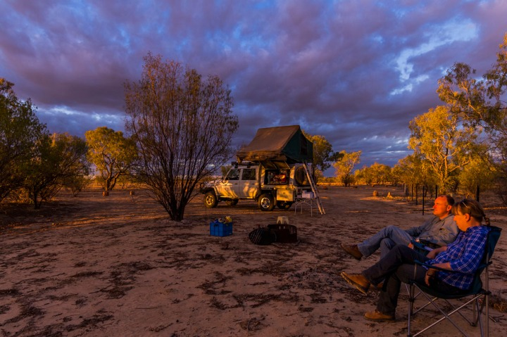 Set up camp at Little Boomerang Waterhole