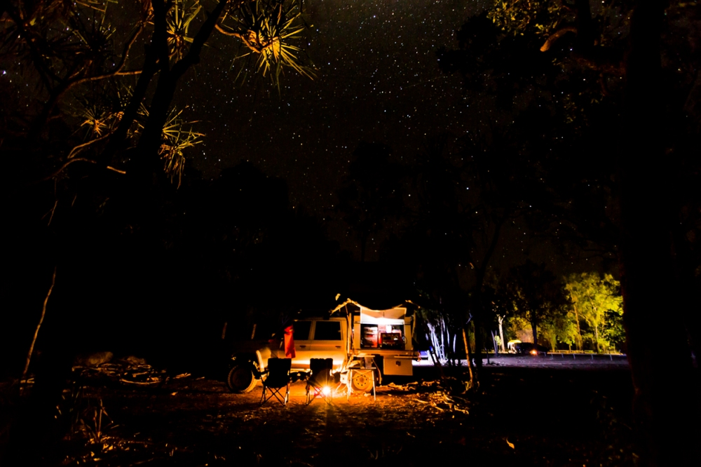 First nights camp in Kakadu, Koolpin Gorge