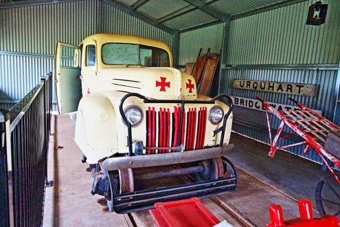 An historic rail ambulance