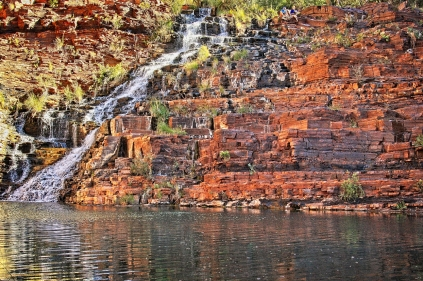 The impressive Fortescue Falls