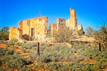 Ruins of the historic hospital at Cue