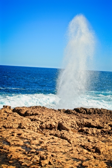 The famous Quobba Blowholes