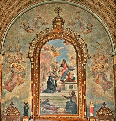 Captivating murals inside one of the churches at New Norcia