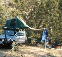 Our peaceful camp at Silent Creek