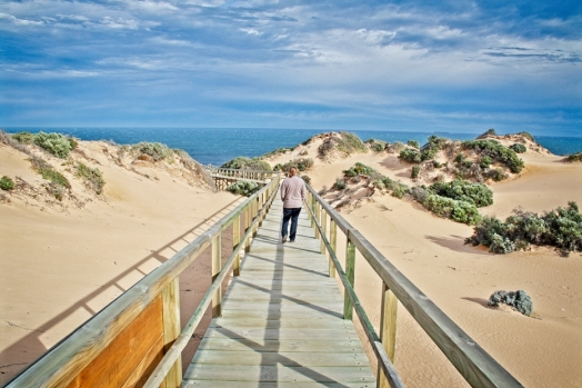 Exploring the stunning Eyre coastline