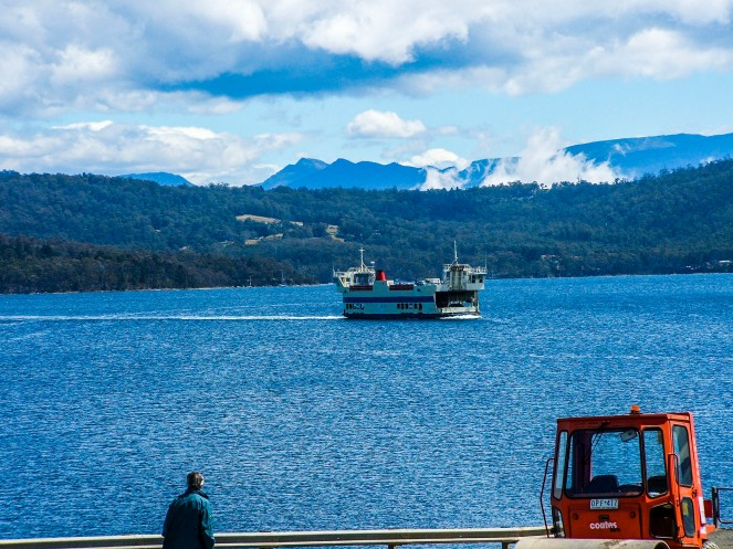 The ferry ride to Bruny Island is only a short one