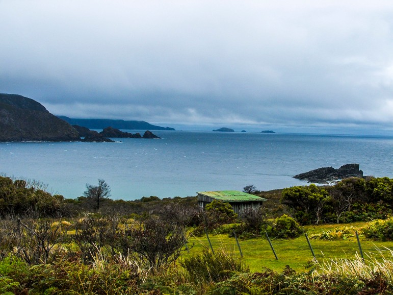 Storm clouds roll in over Bruny Island