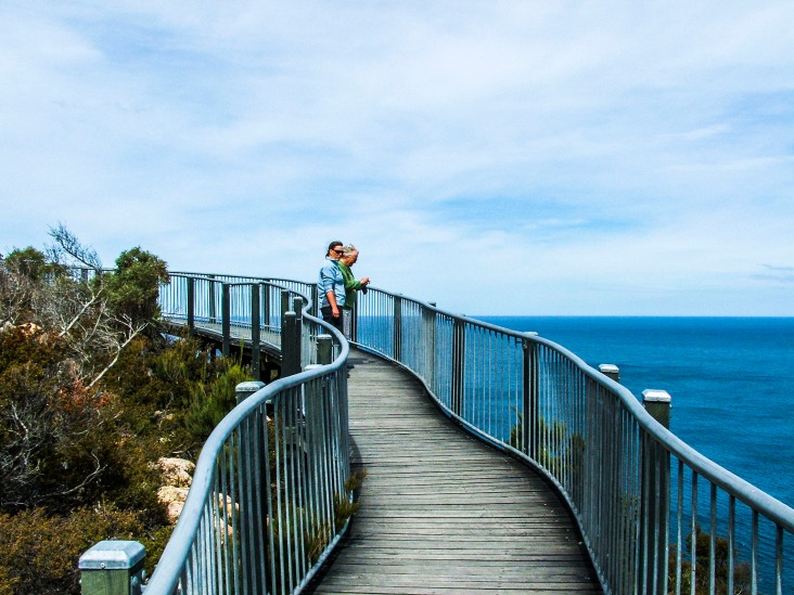 The walkway and lookout over Wineglass Bay is breathtaking
