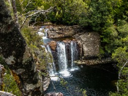 The delightful Pencil Pine Falls at Cradle Mountain